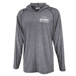Skano/Shen Hooded Heather Long Sleeve Performance Tee- Youth & Adult, 2 Colors