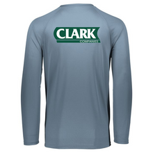 Load image into Gallery viewer, Clark Companies Long Sleeve Performance Tee- Youth, Ladies & Men's, 3 Colors