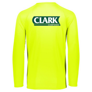 Clark Companies Long Sleeve Performance Tee- Youth, Ladies & Men's, 3 Colors