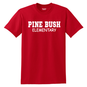 Pine Bush/Guilderland Cotton Tee- Youth & Adult, 2 Colors, 2 Logo Options