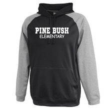 Load image into Gallery viewer, Pine Bush/Guilderland Colorblock Performance Hoodie- Youth & Adult, 2 Colors, 2 Logo Options
