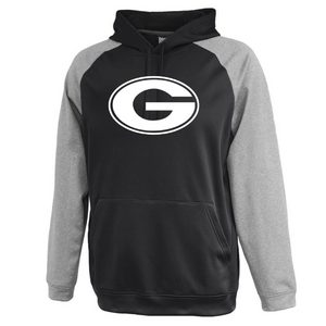 Pine Bush/Guilderland Colorblock Performance Hoodie- Youth & Adult, 2 Colors, 2 Logo Options