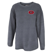 Load image into Gallery viewer, Pine Bush/Guilderland Ladies Corded Crew Neck Pullover- 2 Colors, 2 Logo Options