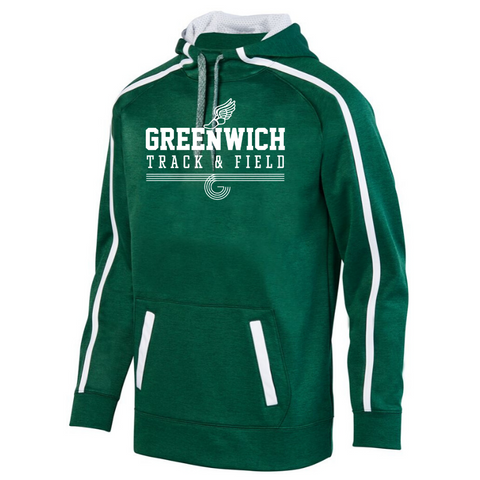 Greenwich Track & Field Performance Hoodie- Youth & Adult, 4 Colors