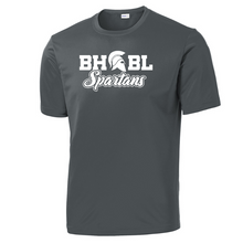 Load image into Gallery viewer, BHBL Spartans Performance T-Shirt- Youth, Ladies, & Men's, 3 Colors