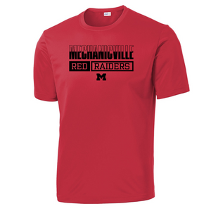 Mechanicville Red Raiders Performance T-Shirt- Youth, Ladies, & Men's, 3 Colors