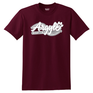 Argyle Softball Cotton Tee- Youth & Adult, 3 Colors