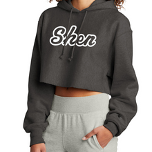 Load image into Gallery viewer, Shen Plainsmen Champion Ladies Cropped Reverse-Weave Hoodie- 4 Colors