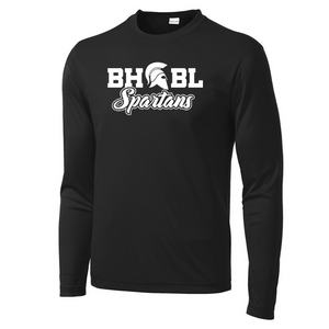 BHBL Spartans Long Sleeve Performance Tee - Youth, Ladies, & Men's, 3 Colors