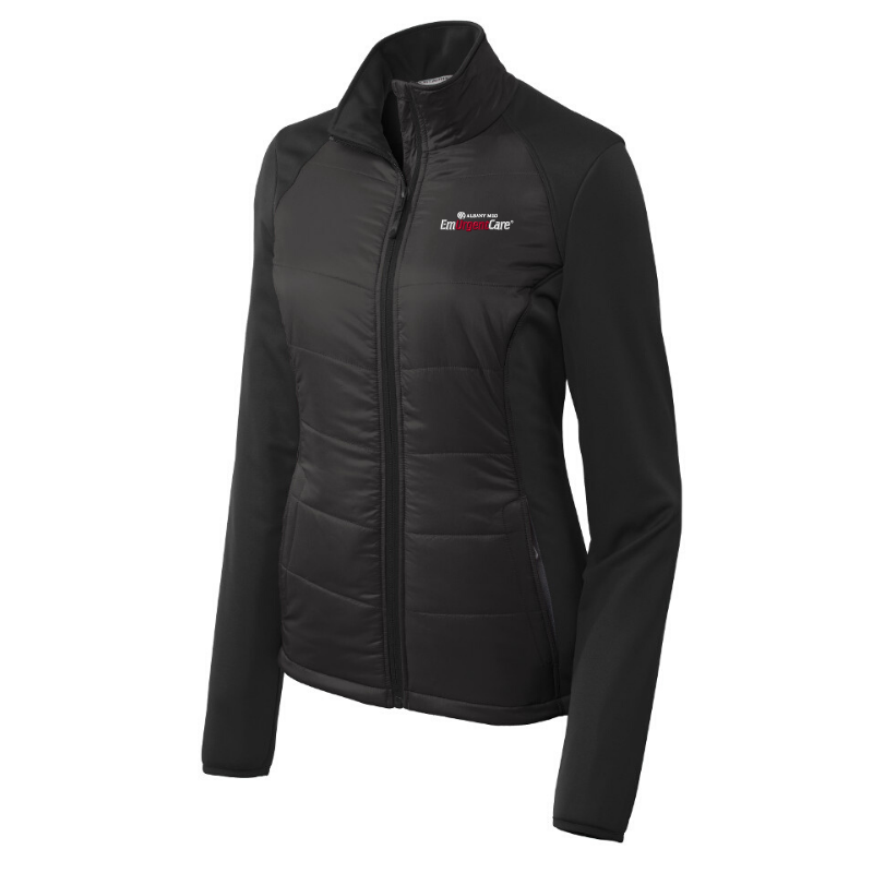 Albany Med EmUrgentCare Hybrid Soft Shell Jacket- Ladies & Men's, 3 Colors