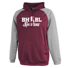 Load image into Gallery viewer, BHBL Spartans Colorblock Performance Hoodie- 2 Colors