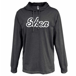 Tesago/Shen Hooded Heather Jersey Long Sleeve- 3 Colors, 2 Logo Options