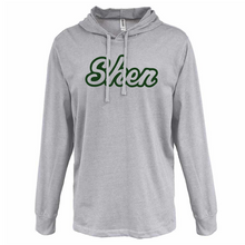 Load image into Gallery viewer, Tesago/Shen Hooded Heather Jersey Long Sleeve- 3 Colors, 2 Logo Options