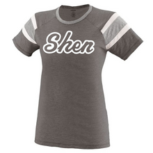 Load image into Gallery viewer, Shatekon/Shen Colorblock Tee- Girls & Ladies, 2 Colors, 2 Logo Options