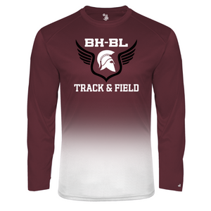 BHBL Track & Field Ombre Performance Long Sleeve- 2 Colors