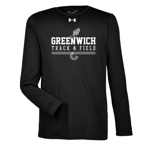 Greenwich Track & Field Under Armour Long Sleeve Performance Tee- Ladies & Men's, 4 Colors