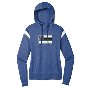 Ladies Lightweight Stripe-Accented Hooded Long Sleeve-3 Colors
