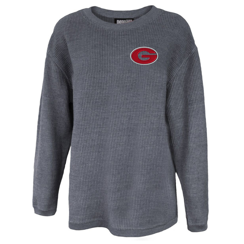 Guilderland Ladies Corded Crew Neck Pullover- 2 Colors