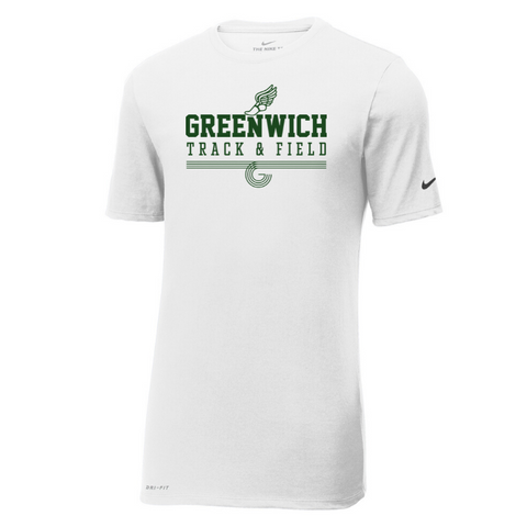 Greenwich Track & Field Nike Cotton/Poly T-Shirt- Ladies & Mens, 2 Colors