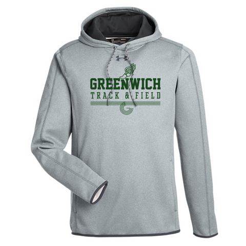 Greenwich Track & Field Under Armour Performance Hoodie- Ladies & Men's, 3 Colors, 3 Logo Options