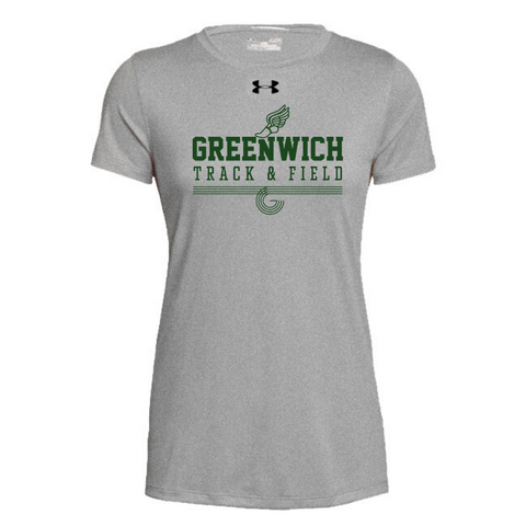 Greenwich Track & Field Under Armour Short Sleeve Performance Shirt- Ladies & Men's, 4 Colors