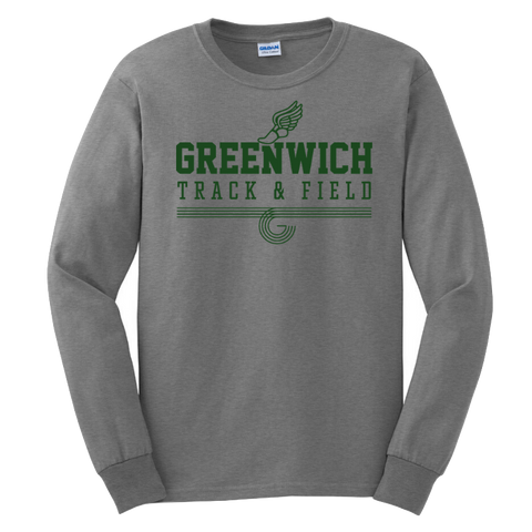 Greenwich Track & Field  Long Sleeve Tee- Youth & Adult, 4 Colors