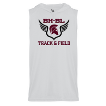 Load image into Gallery viewer, BHBL Track & Field Sleeveless Hooded Performance Tee- Youth & Adult, 3 Colors