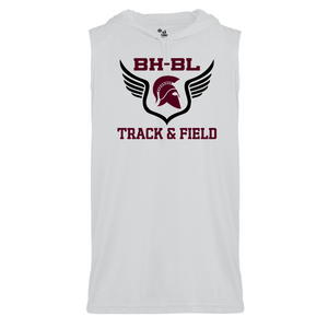 BHBL Track & Field Sleeveless Hooded Performance Tee- Youth & Adult, 3 Colors