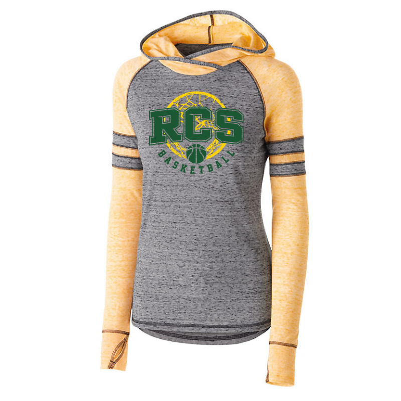 RCS Basketball Hooded Two-Tone Long Sleeve- Girls & Ladies, 3 Colors