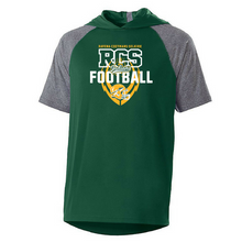 Load image into Gallery viewer, RCS Football Short Sleeve Colorblock Performance Hoodie- 2 Colors