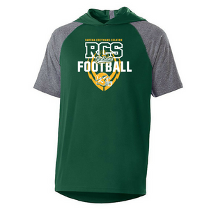 RCS Football Short Sleeve Colorblock Performance Hoodie- 2 Colors