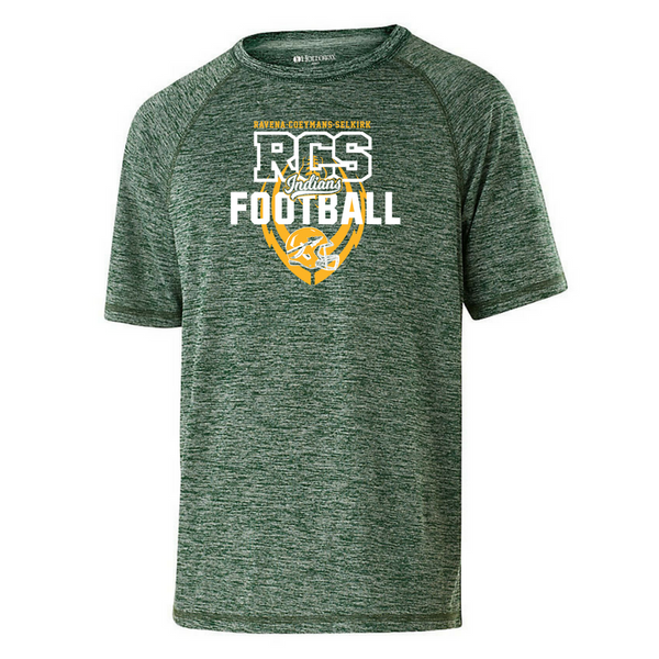 RCS Football Heather Performance Tee- Youth, Ladies, & Men's, 3 Colors