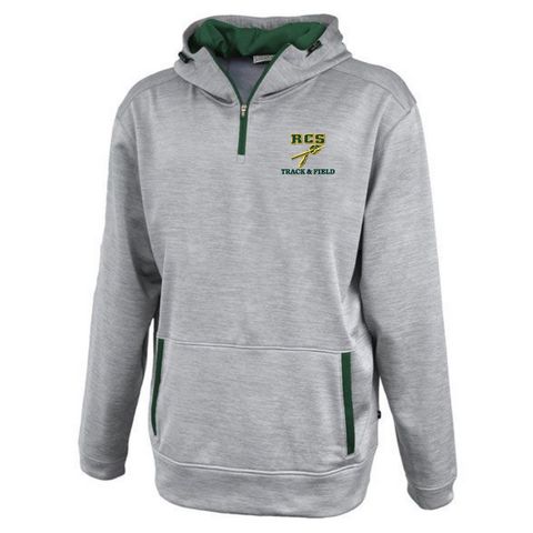 RCS Track & Field Hooded 1/4 Zip Performance Pullover- 2 Colors