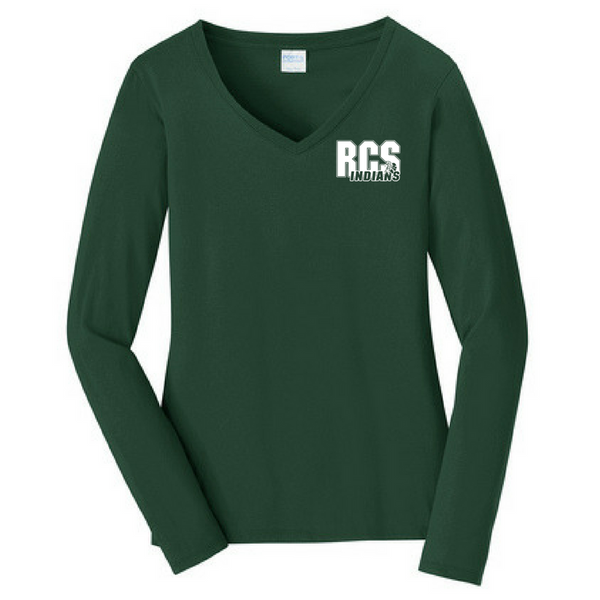RCS Ladies Long Sleeve V-Neck Tee- 2 Colors