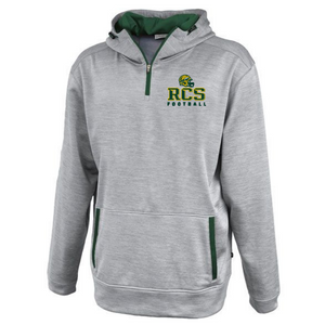 RCS Football Hooded 1/4 Zip Performance Pullover- 2 Colors