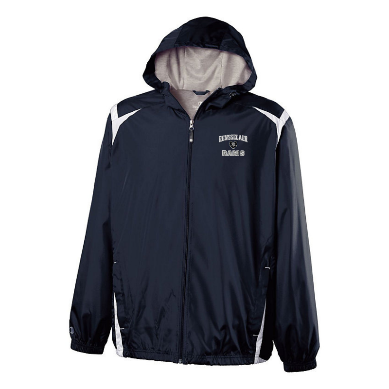 Rensselaer Rams Hooded Full Zip Lightweight Jacket- Youth & Adult