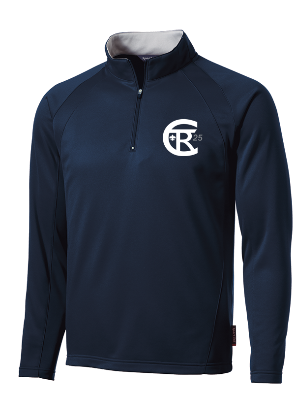 Twin Rivers Council Moisture Wicking Fleece 1/4 Zip Pullover with logo embroidered