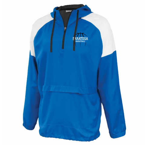 Saratoga Basketball Colorblock Hooded 1/4 Zip- 4 Colors