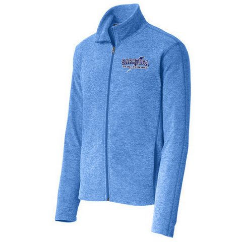 Saratoga Heathered Full Zip Micro-Fleece- Ladies & Men's, 4 Colors