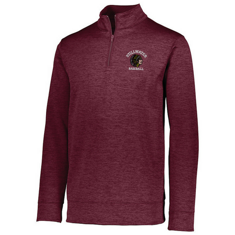 Stillwater Baseball/Softball 1/4 Zip Heather Performance Pullover- Ladies & Men's, 3 Colors