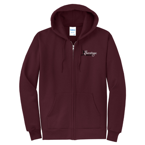 Saratoga Ballet Full Zip Hooded Sweatshirt- YOUTH & Adult, 3 Colors