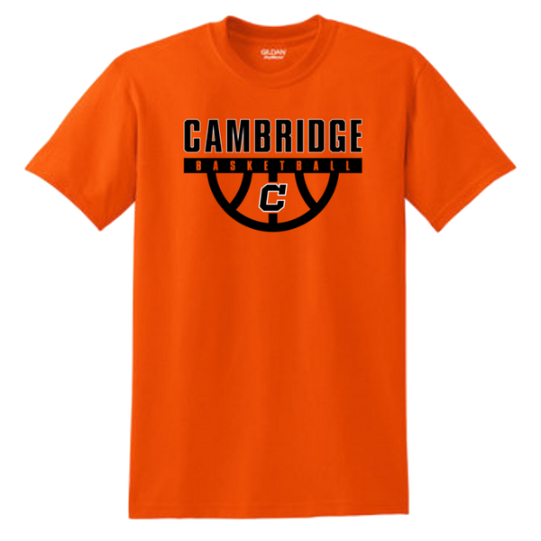 Cambridge Basketball Cotton Tee- Youth & Adult, 3 Colors