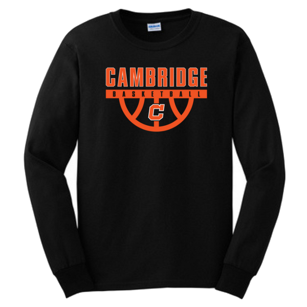 Cambridge Basketball Long Sleeve T-Shirt- Youth & Adult, 3 Colors