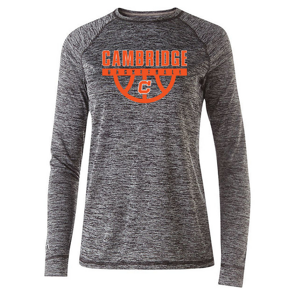 Cambridge Basketball Long Sleeve Heather Performance Tee- Youth, Ladies, & Men's, 2 Colors