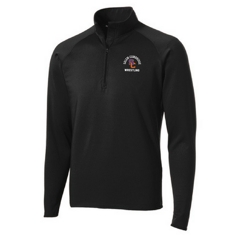 Salem-Cambridge Wrestling 1/4 Zip Performance Pullover- Ladies & Men's, 2 Colors