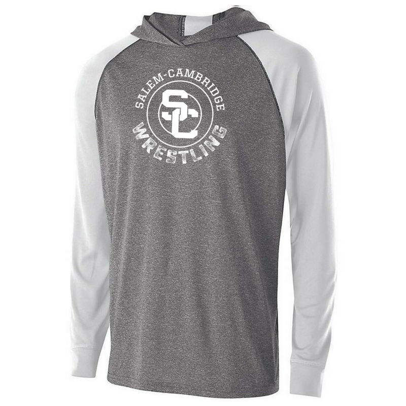 Salem-Cambridge Wrestling Hooded Long Sleeve Performance Shirt- Youth, Ladies & Men's, 4 Colors