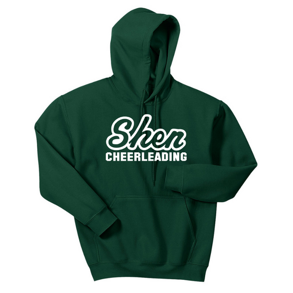 Shen Cheerleading Hoodie- Youth & Adult, 4 Colors, 2 Logos