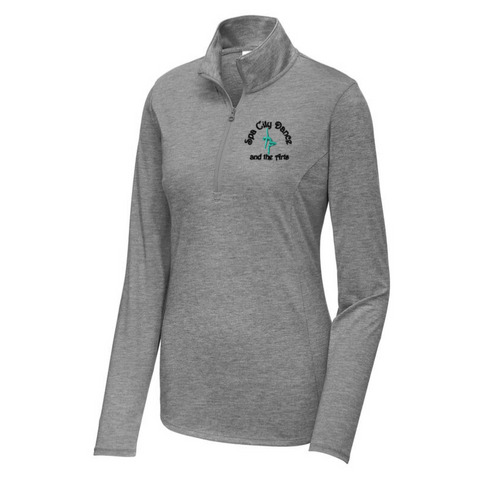 Spa City Ladies Lightweight Tri-Blend 1/4 Zip Pullover- 2 Colors