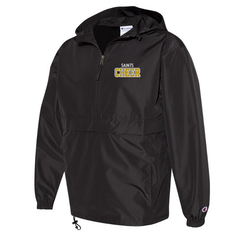 Siena Cheer 1/4 Zip Packable Windbreaker- 2 Colors, 2 Logos