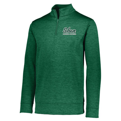 Shen Cheerleading 1/4 Zip Heather Performance Pullover- Ladies & Men's, 3 Colors